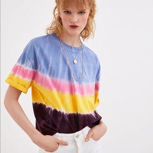 Zara Tie dye shirt/ Size L